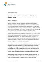 Pressemitteilung als PDF herunterladen - Compliance Training