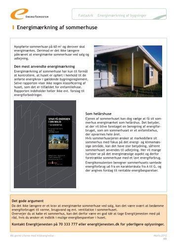 Energimærkning af sommerhuse - Energitjenesten