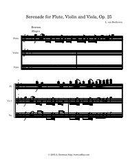 Serenade Op. 25 for flute,Violin,Viola