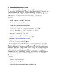 1. Vietnamese Fulbright Scholar Program The ... - Moodle YDS