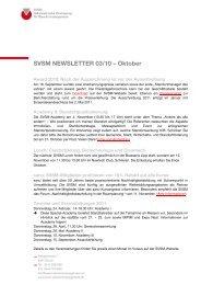 SVSM NEWSLETTER 03/10 – Oktober