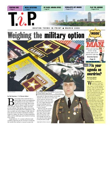 Weighing the military option - Teens in Print