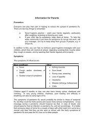 Information for Parents - Newtown High School