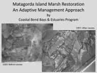 Matagorda Island Marsh Restoration - Restore America's Estuaries