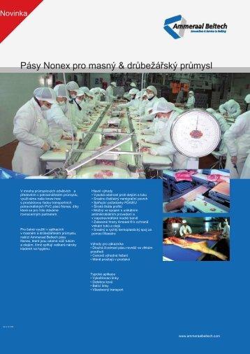 Pásy Nonex pro masný & drůbežářský průmysl