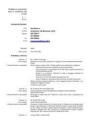 CV europeo - Ingegneria Sanitaria Ambientale - Università degli ...