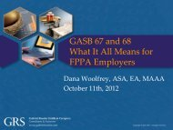 GASB 67 and 68 What It All Means for FPPA Employers