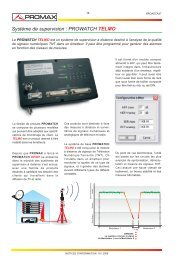 Systeme de supervision: PROWATCH TELMO - Promax