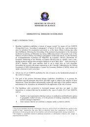 HORIZONTAL MERGER GUIDELINES - Ministério da Justiça