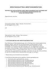 Mustervertrag Umsetzungsberatung - Kommunalkredit Public ...