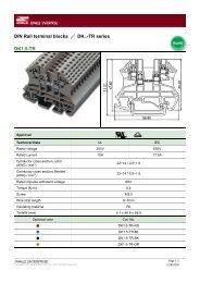 DIN Rail terminal blocks / DK..-TR series DK1.5-TR - Dinkle