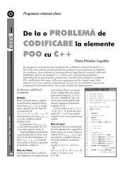 De la o PROBLEMĂ de CODIFICARE la elemente POO cu C++ - GInfo