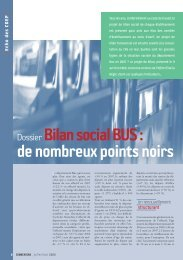 Dossier Bilan social BUS: - RATP