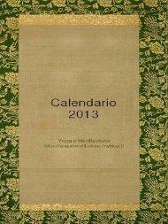 Calendario anno 2013 - yoga e meditazione