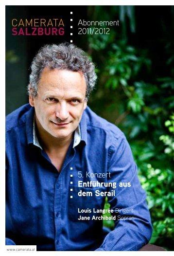 Abonnement 2011/2012 5. Konzert Entführung aus dem Serail