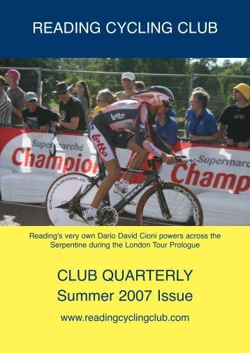 READING CYCLING CLUB CLUB QUARTERLY Summer 2007 Issue
