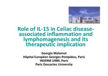 Role of IL-15 in Celiac disease- associated inflammation and ...