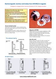 Electromagnetic clutches and brakes from INTORQ & magneta