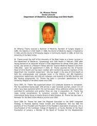 Dr. Minerva Thame Senior Lecturer Department of Obstetrics - Uwi.edu