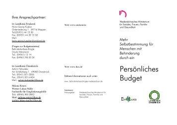 Flyer: Persönliches Budget (tagged pdf)