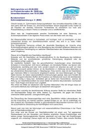 Stellungnahme vom 05.08.2009 zur Presseinformation Nr. 26/09 ...