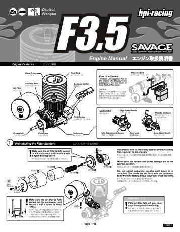 Engine Manual エンジン取扱説明書 - HPI Racing