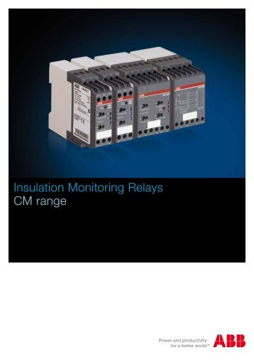 Insulation Monitoring Relays CM range - Abb