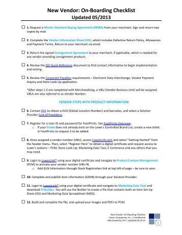 vendor onboarding checklist