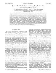Quantum Monte Carlo calculations of the one-body density matrix ...