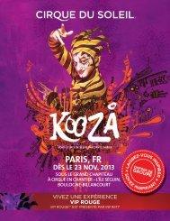 vip rouge - Cirque du Soleil