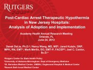 Post-Cardiac Arrest Therapeutic Hypothermia in New Jersey ...