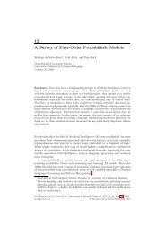 12 A Survey of First-Order Probabilistic Models - CiteSeerX