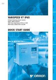 VARISPEED V7 IP65 QUICK START GUIDE
