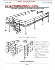 LONG SPAN MEZZANINE FLOORS - Metric Storage Systems