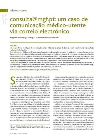Estudos originais - Associação Portuguesa de Medicina Geral e ...