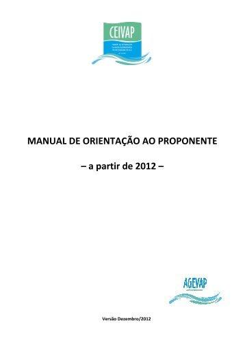 Manual de Orientação ao Proponente - ceivap