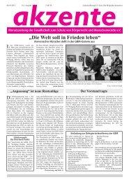 """""""Die Welt soll in Frieden leben"""" - GBM"""