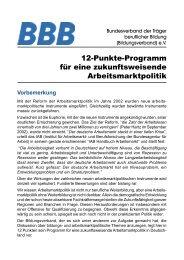 12-Punkte-Programm - Bundesverband der Träger beruflicher Bildung