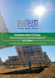 European Green IT Survey 2012 - TCO Development