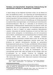 Empirische Untersuchung der sprachlichen Variation in