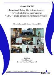 Kryoteknik för biogasbranschen - SGC