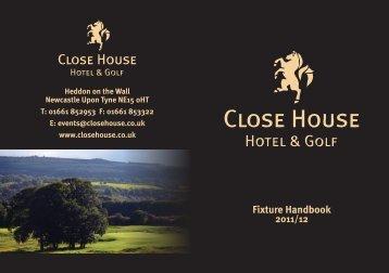 Fixture Handbook - Close House