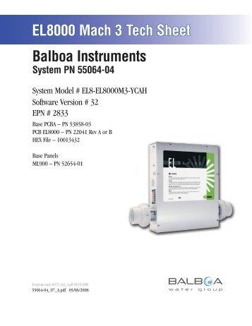 55064-04, EL8-EL8000M3-YCAH - Balboa Direct