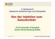 Schmidt, H., Gelenkinfektion - Septische Chirurgie