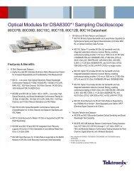 Optical Modules for DSA8300 Sampling Oscilloscope ... - Tektronix