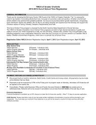 2013 - 2014 Registration Form - YMCA of Greater Charlotte