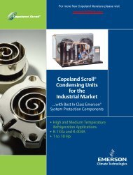 Scroll Condensing Units - Industrial Market 1 thru 10 HP (2005IP-274)