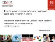 Clinical Research: Overview in Wales - France in the United Kingdom