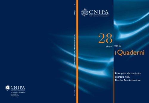 Linee guida alla continuità operativa nella Pubblica ... - DigitPA