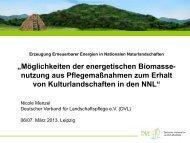 Erzeugung Erneuerbarer Energien in Nationalen Naturlandschaften